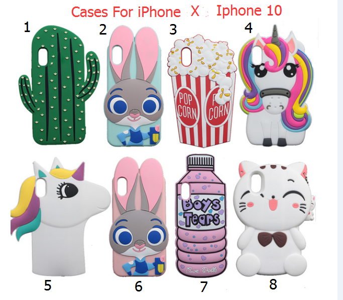 sneakers for cheap 9b270 2df5a 3D Cartoon Iphone X Cases pictures of the iphone 8 plus phone Cases ...