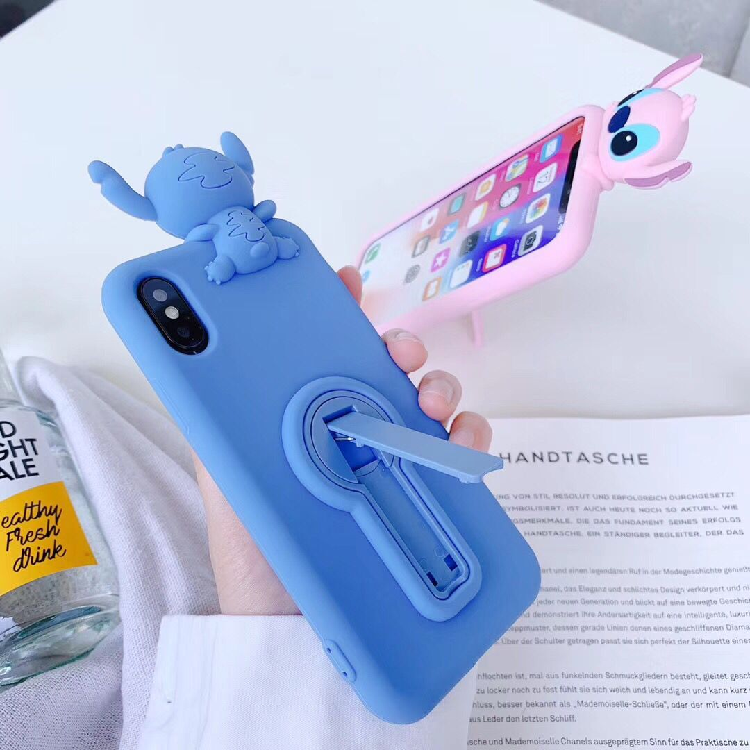 Best iPhone X Cases 3D Cartoon Stitch Cases for Apple iPhone 6s 7 ...