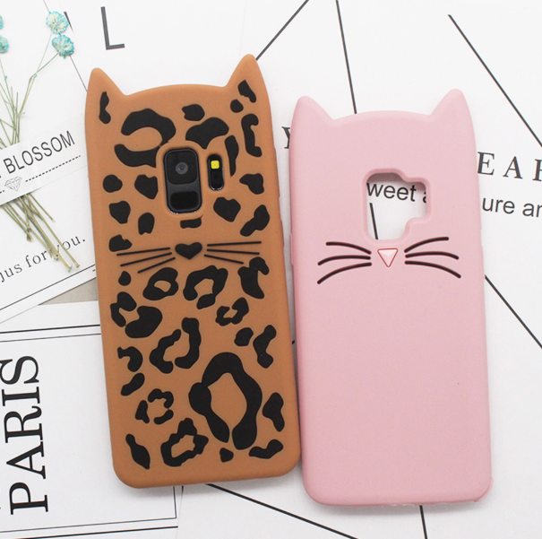various colors 1fd3c 91aa3 Cartoon Samsung Galaxy Note 9 Cases Cute 3D Leopard cats Case For ...