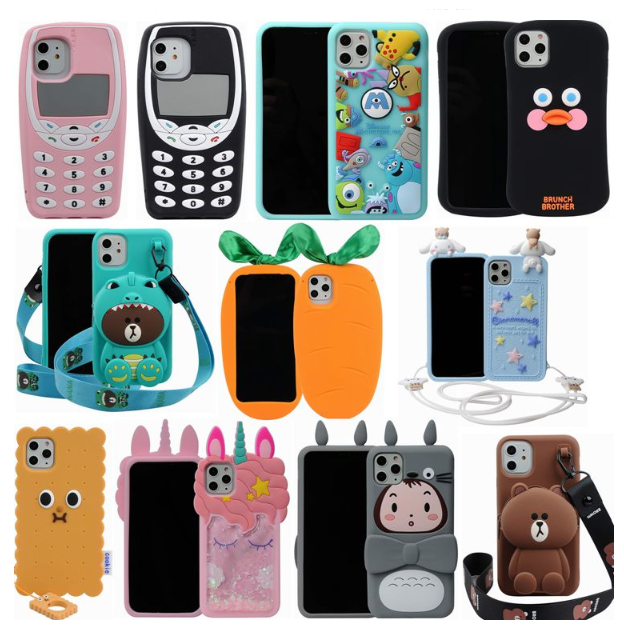 Cute Soft Silicone Cover For iphone