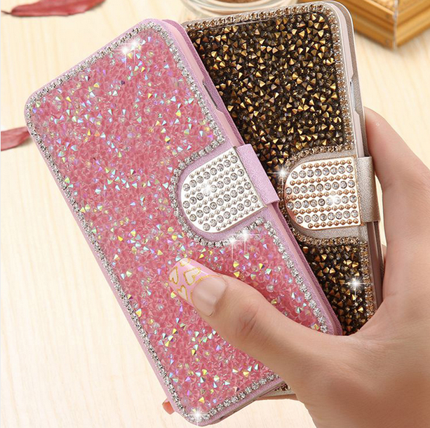 5b43ed718e146a iPhone 7 Plus Case Bling iPhone 7 Plus Leather Cases Rhinestone Handbag  Cases with Card Slot For iPhone 5 5s ...