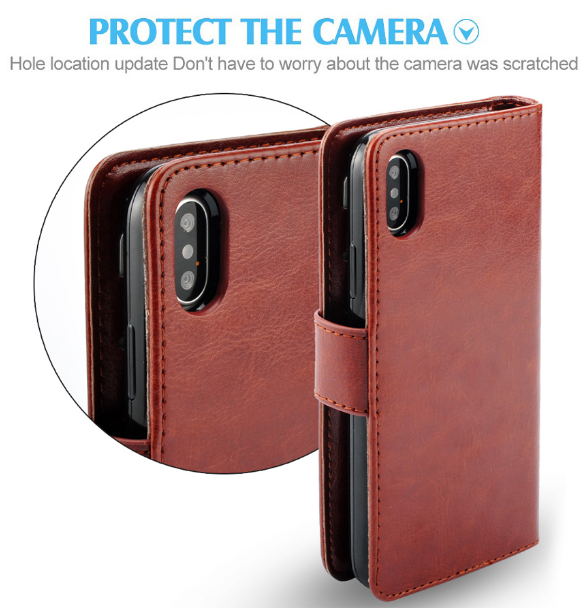 pretty nice 763a8 6f77e iPhone X Leather Cover For man Wallet Case For iPhone X 7 8 plus ...