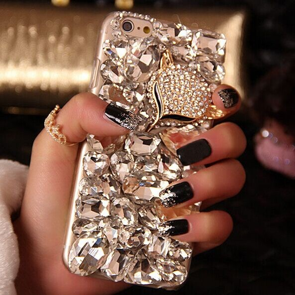 Luxury Fashion Lady Handmade Bling Fox Crystal Diamond iPhone 7 plus Cover  Case For iPhone 5 5S ... 15cd319411