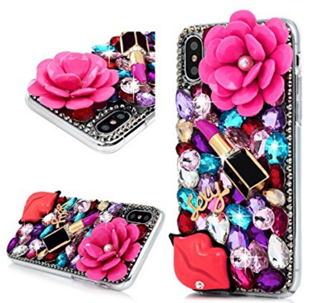 reputable site 03872 691f6 Girls Glitter iPhone 8 Plus Case Crystal Diamond PHONE Cases for ...