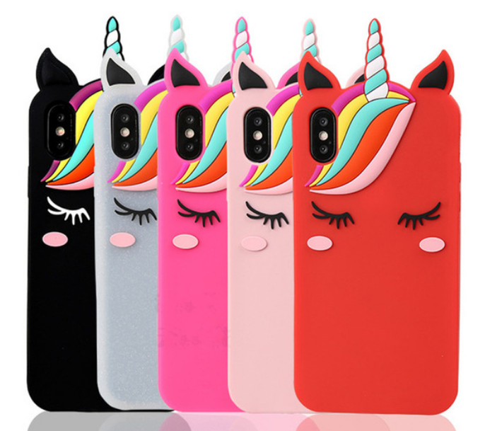 on sale 2a96e 2fe33 iPhone Xs max Unicorn case Fashion Cartoon 3d Unicorn Soft Silicone ...