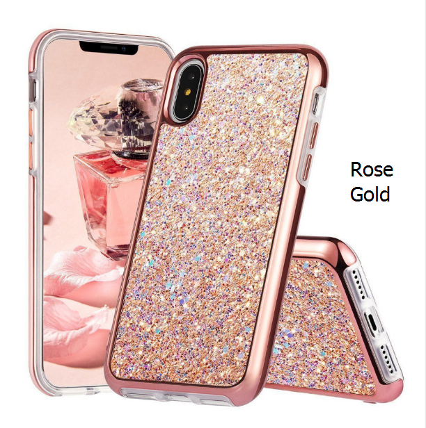the latest f552c 9124c Luxury Glitter iPhone X Cases For iPhone X 6 7 8 Bling Soft TPU ...